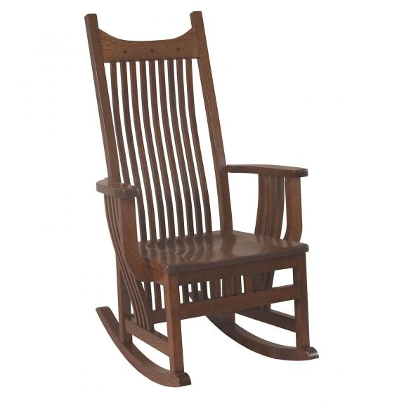 098 Royal Mission Leather Rocking Chair