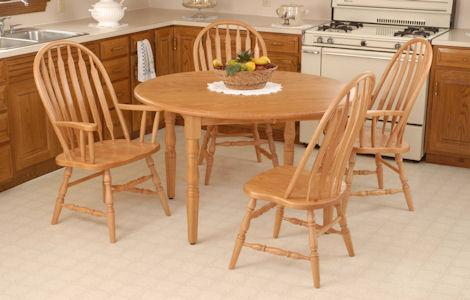 Round Leg Table Set