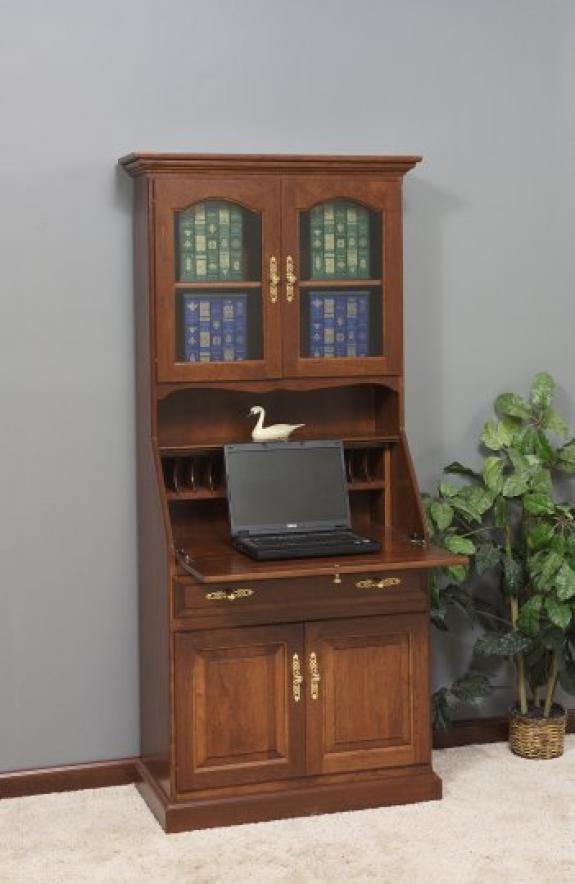 GO-3001 Deluxe Secretary Desk with Doors