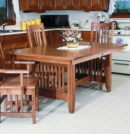 40 Mission Dining Collection Mission Trestle Table