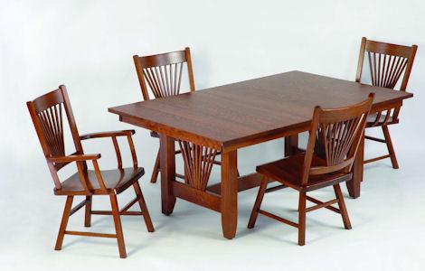 46 Mission Fantail Dining Collection