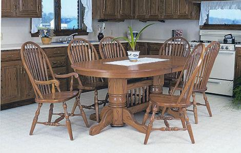 Double Pedestal Oval Table Collection