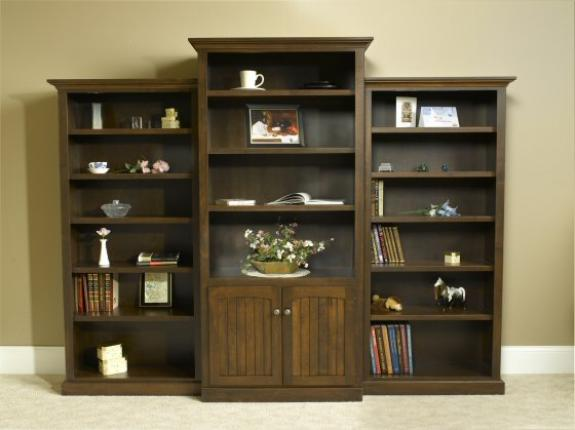 A-C80D Country Lane Corner Bookcase with Side Units
