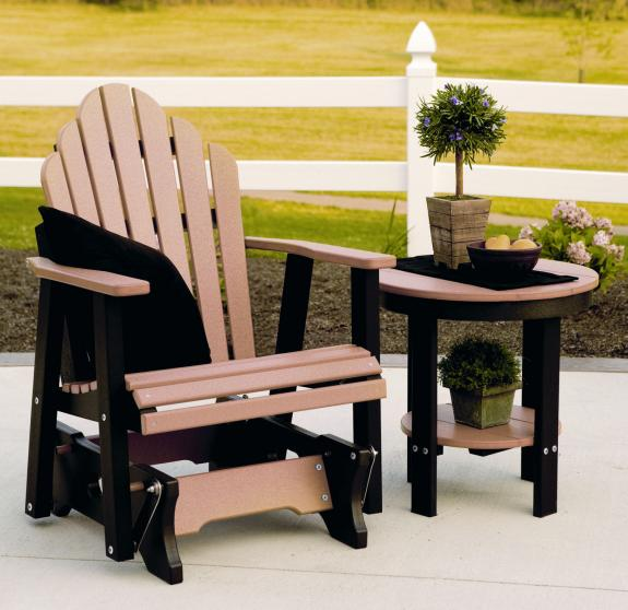 Cozi-Back Outdoor Chair Glider