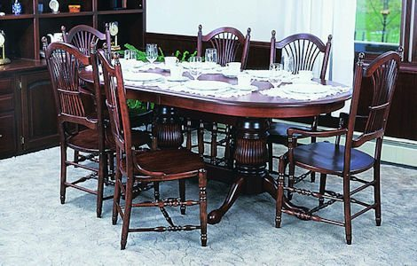 Double Pedestal Traditional Dining Set