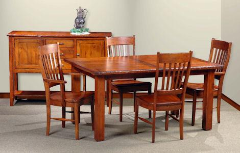 Breadboard End (78) Dining Table Set