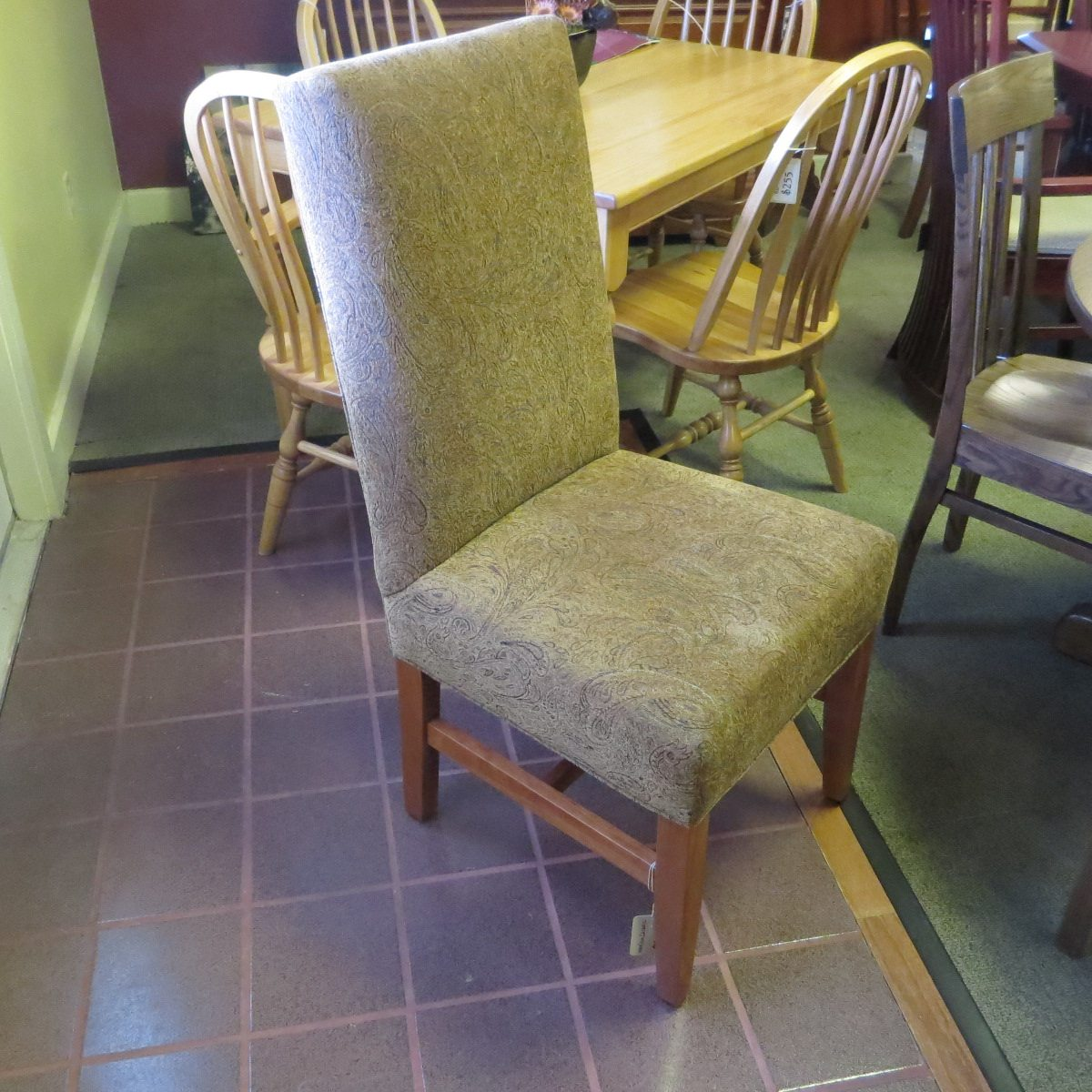 Anabel High Back Fabric Dining Chair Clear Creek Amish