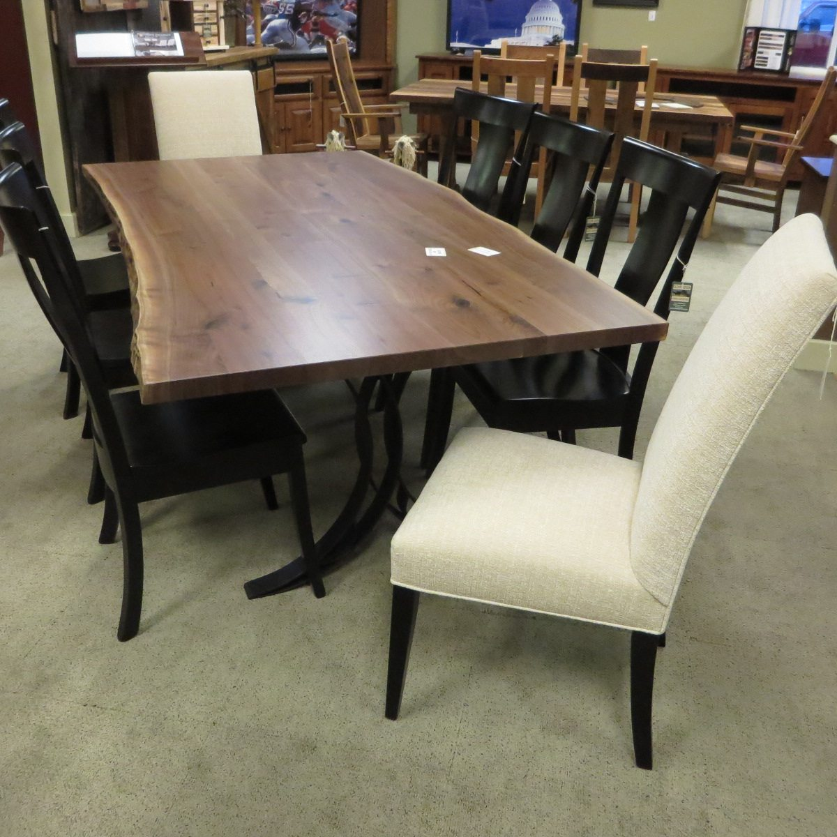 Yosemite Live Edge Dining Set with Metal Base