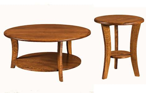 Laurie Round Coffee and End Table