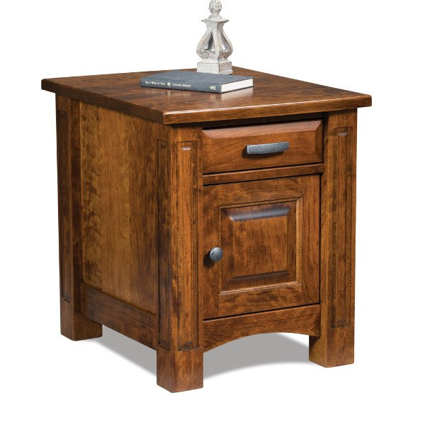 Lexington Occasional Tables FVET-LX-EN End table with door & drawer