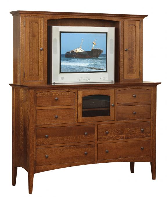 New Haven Bedroom Set Double Dresser Hutch