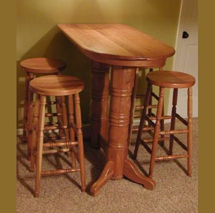 Double Pedestal Pub Table Clear Creek Amish Furniture