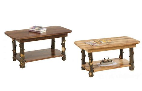 Rustic Log Coffee Tables