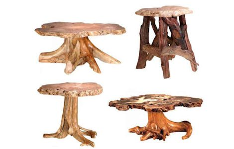 Rustic Stump / Burl Coffee Tables and End Tables