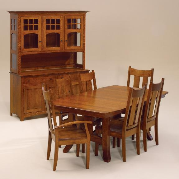 shaker hill trestle table clear creek amish furniture Trestle Extension Dining Table Trestle Extension Dining Table
