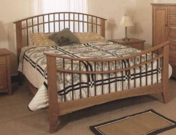 Salem Bed Clear Creek Amish Furniture Waynesville Oh