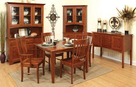 Shaker Dining Room Furniture | Shaker Dining Collection Clear Creek Amish Furniture Waynesville Oh