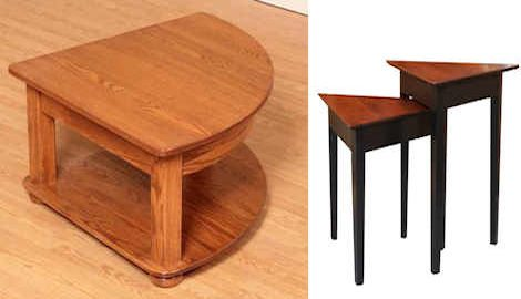 Triangle Shaped Occasional Tables