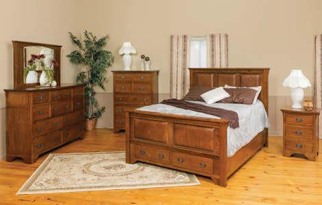 Vintage Mission Bedroom Set