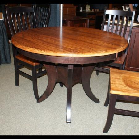 Galveston Round Dining Room Table Clear Creek Amish