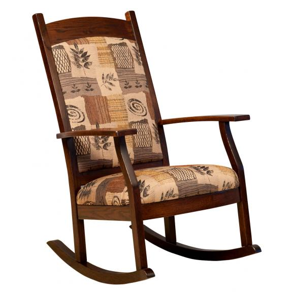 012 Padded Back Upholstered Rocking Chair