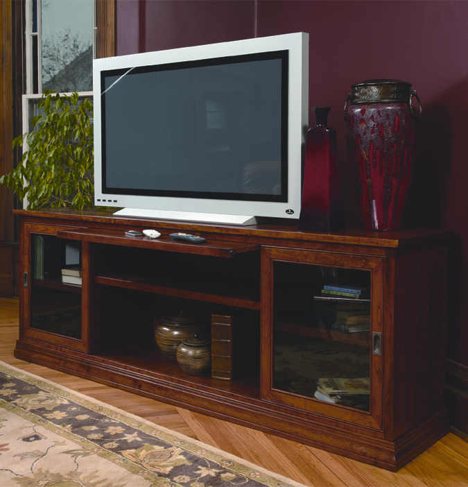TV Console with Sliding Doors