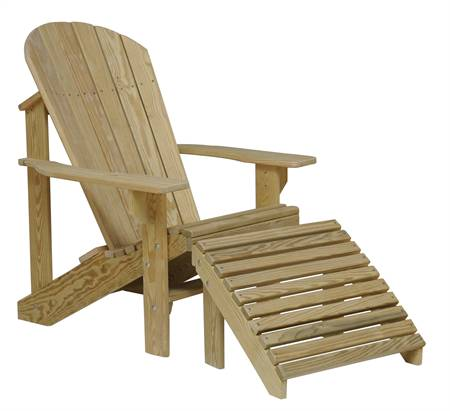 Adirondack Chair with Footrest, treated pine
