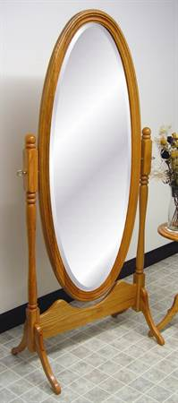 1004 Oval Molded Frame Cheval Mirror