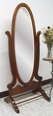 1005 Victorian Oval Cheval Mirror
