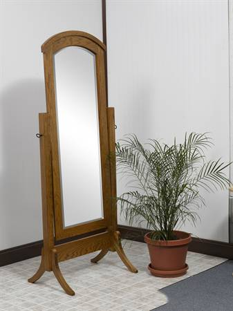 1014 Crown Shaker Cheval Mirror