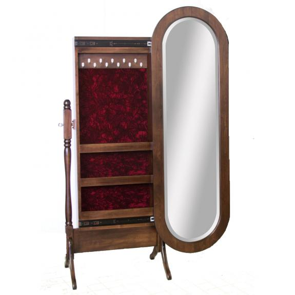 1021-101 Lexington Oval Mirror with Jewelry Box
