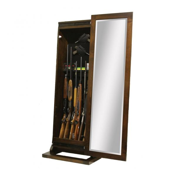 1035-300 Shaker Rifle Cabinet with Mirror