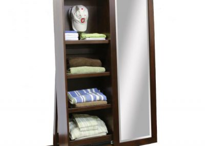 1035-400-Shaker-Hat-Storage-Leaner-Cabinet-Open-Decorated