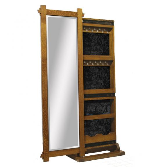 1050-101 Heartford Leaner Mirror with Jewelry Box