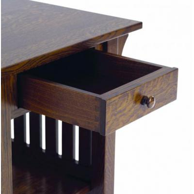 1800-Mission-End-Table-Drawer