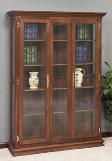 GO-3310 Double Door Picture Frame Deluxe Bookcase