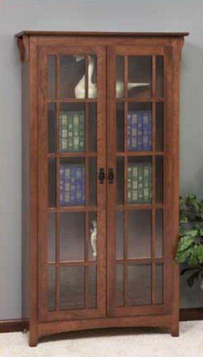 GO-3311 Mission Double Door Bookcase