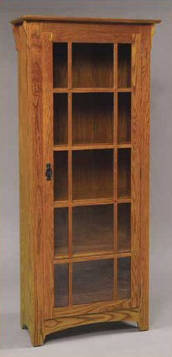 GO-3305 Mission Single Door Bookcase