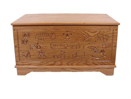 2069 Carved toy chest / toy boxes