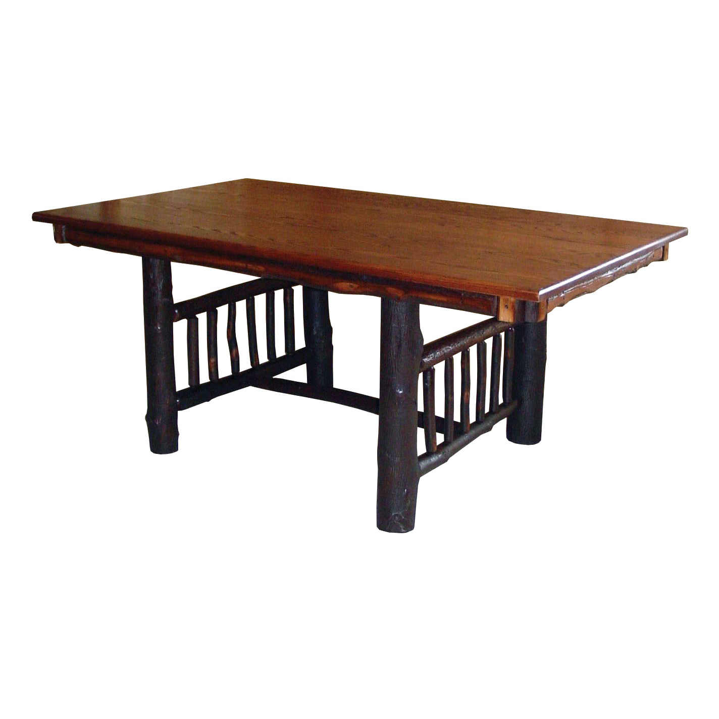 211 Rustic Mission Trestle Table