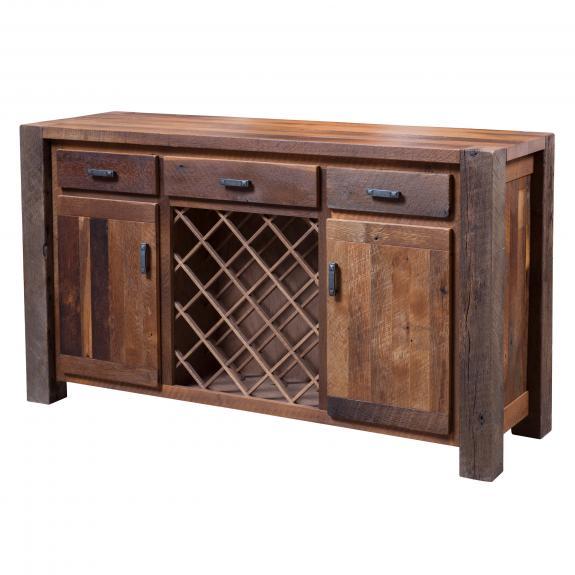 Barnwood Timber Ridge Dining Set 215-362064 Timber Ridge Wine Cabinet