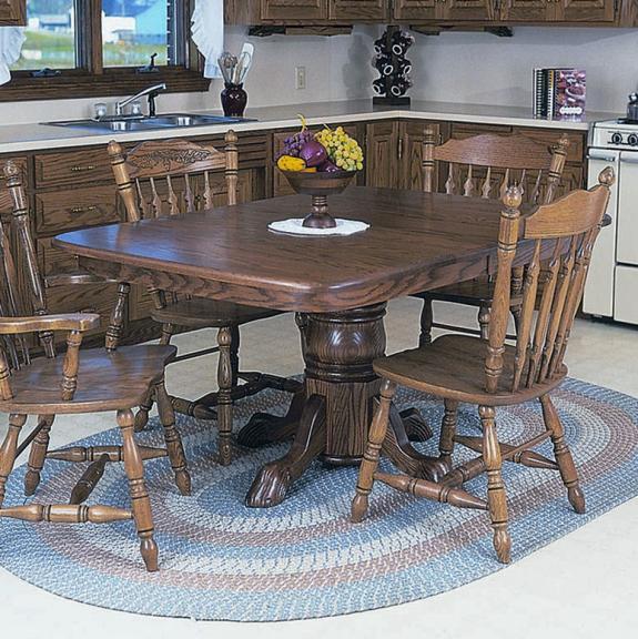 30 Single Pedestal Rounded Corner Dining Set 30 Single Pedestal Table