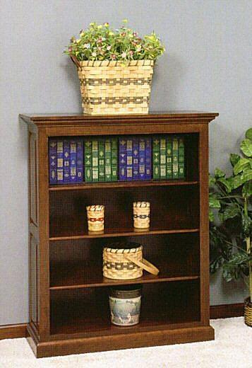 GO-3049 3-Shelf Raised Panel Bookcase