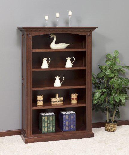 GO-3098 4-Shelf Premium Raised Panel Bookcase