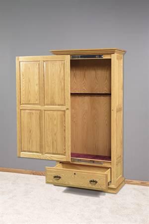 GO-5006 Wooden Sliding Door 8 Gun Cabinet