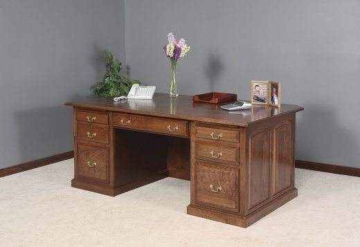 GO-3189 Executive Desk with Raised Panel Back