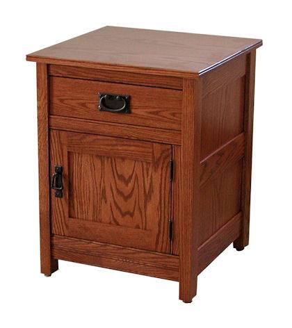 CWF Country Mission Bedroom Set 1 Door Nightstand