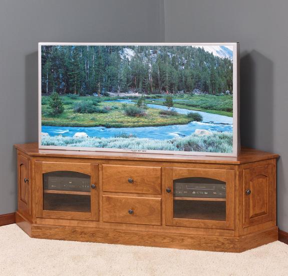 3213-A Deluxe Corner TV Cabinet