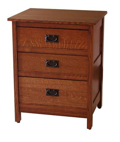 CWF Country Mission Bedroom Set 3 Drawer Nightstand