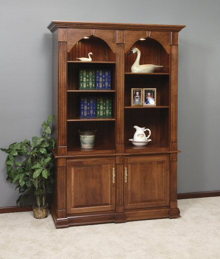 GO-3234 Twin Crescent Moon Executive Bookcase